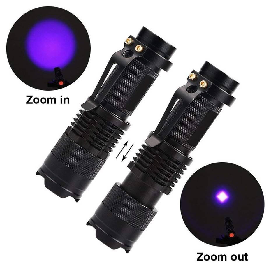 Travel LED UV Flashlight